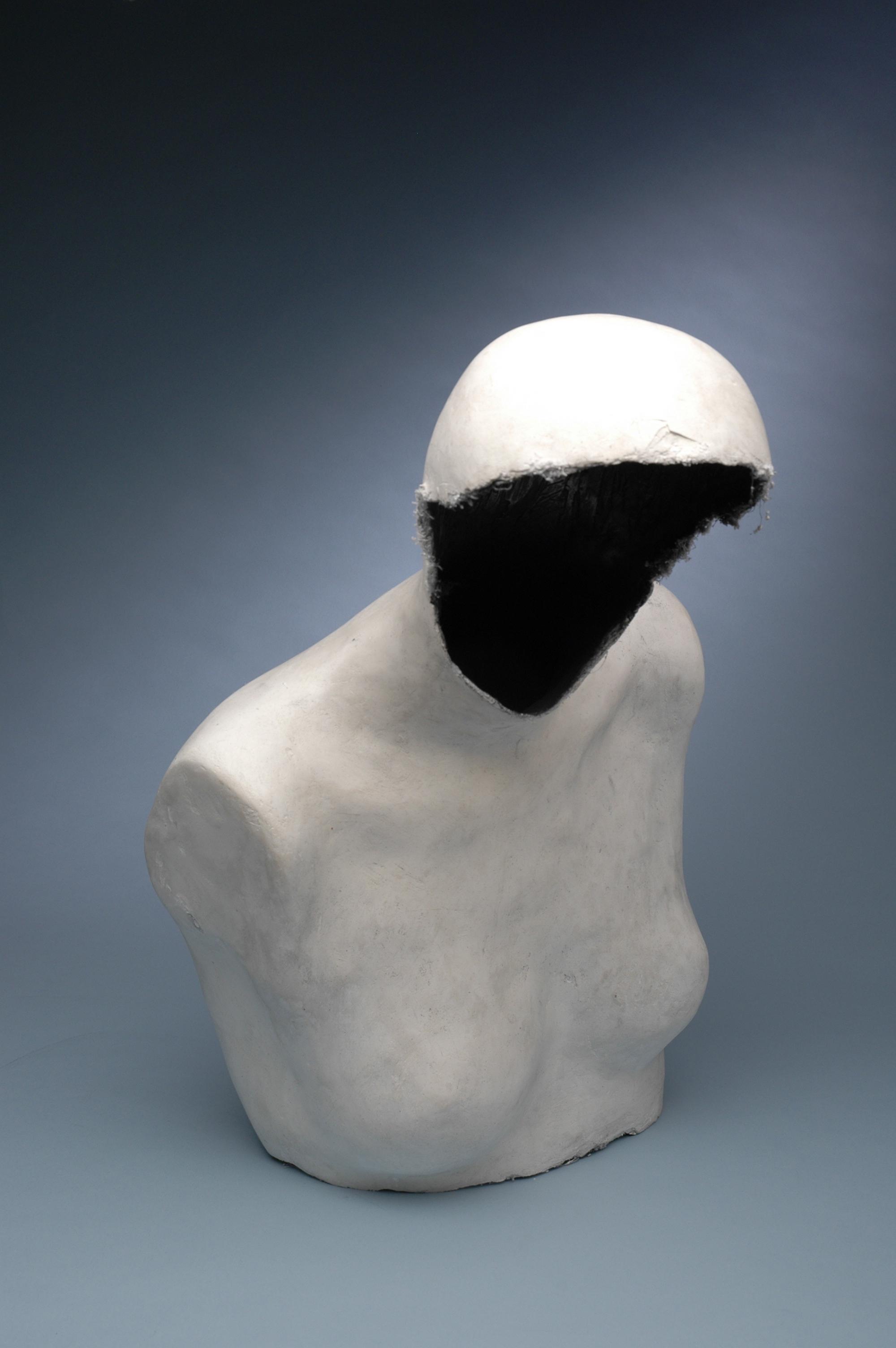 """Experimental Figure 1"" 3/4 scale, plaster, charcoal powder."