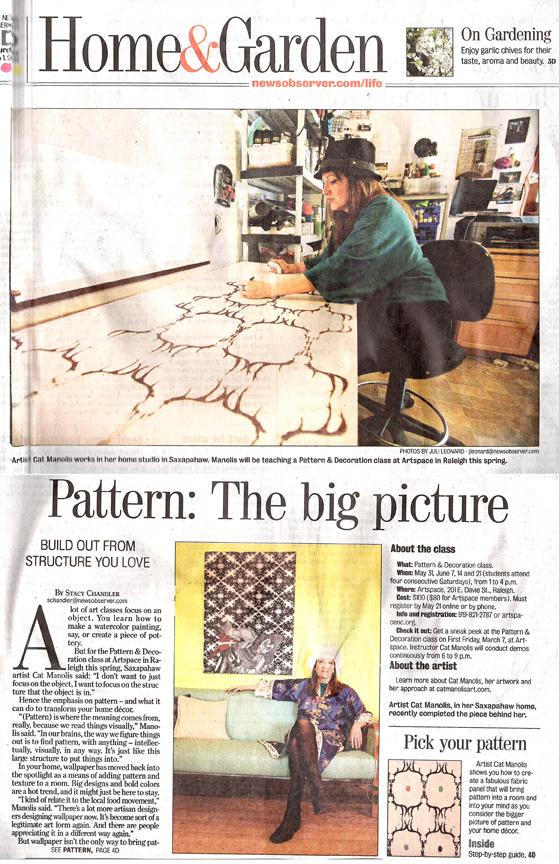 Cat featured in the NEWS & OBSERVER!